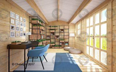 Pouvez-vous imaginer votre atelier dans un abris en bois?